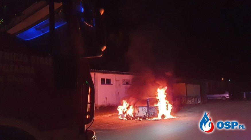 170/2020 Pożar samochodu OSP Ochotnicza Straż Pożarna