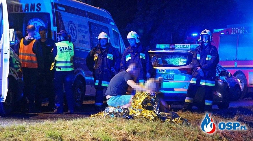 5 osób zginęło w wypadku na przejeździe w Nowej Wsi Kąckiej pod Wrocławiem OSP Ochotnicza Straż Pożarna