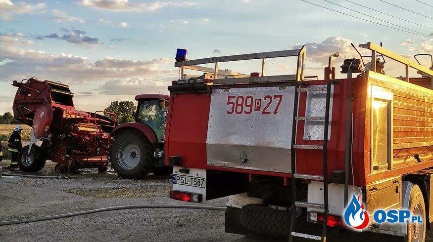 Pożar prasy i ścierniska w Różannie OSP Ochotnicza Straż Pożarna