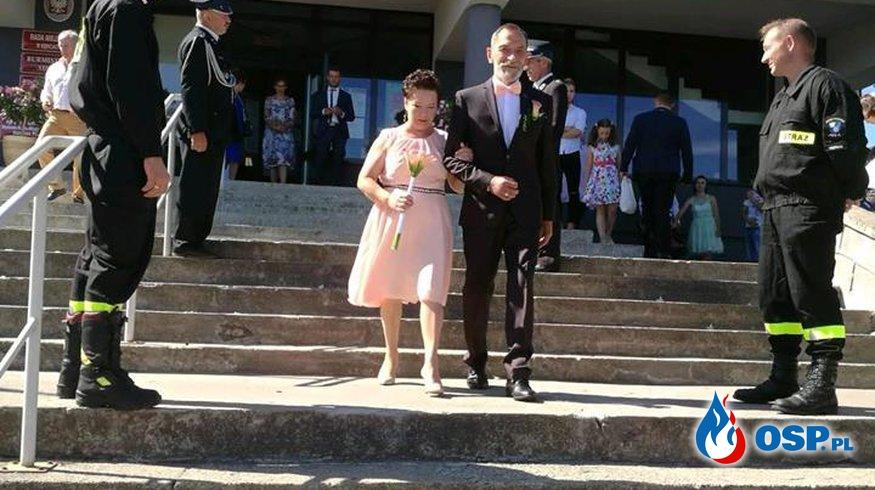Ślub strażaka 18-08-2018 OSP Ochotnicza Straż Pożarna