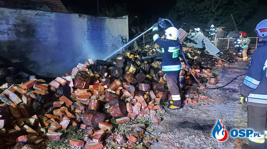 Pogorzelisko w miejscowości Murów OSP Ochotnicza Straż Pożarna