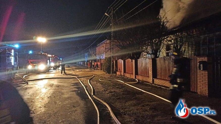 Pożar budynku mieszkalnego w miejscowości Drugnia OSP Ochotnicza Straż Pożarna