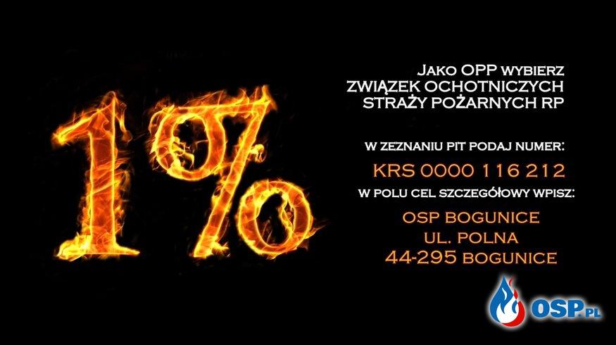 wspomóż naszą jednostkę- AKCJA 1% OSP Ochotnicza Straż Pożarna