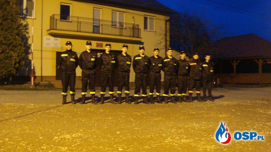 Strażackie ognisko upamiętniające 1050 lecie Chrztu Polski. OSP Ochotnicza Straż Pożarna