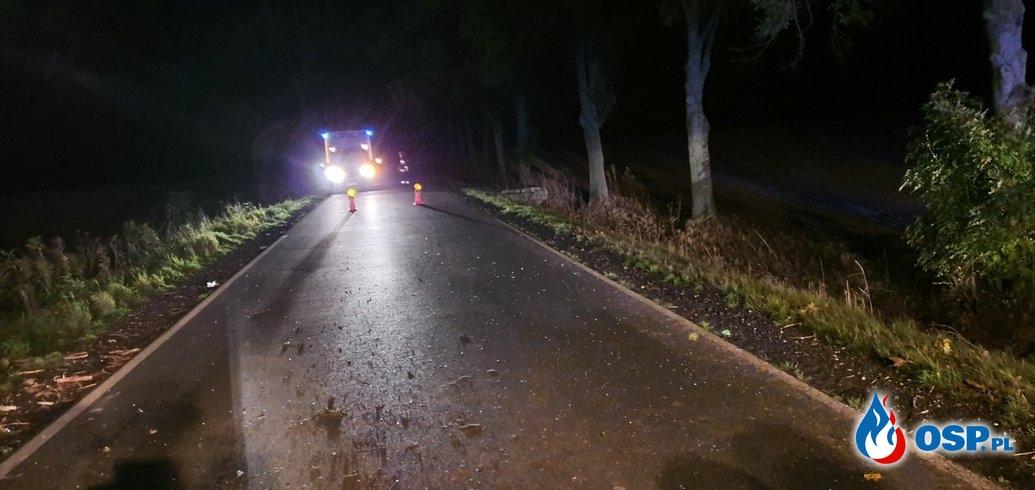 Tragiczny wypadek na trasie Biała - Solec OSP Ochotnicza Straż Pożarna