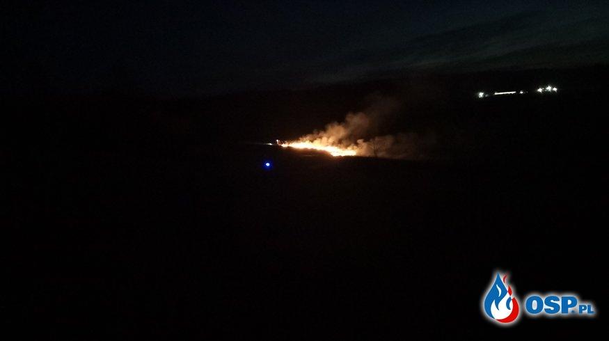 Pierwsze zmagania z pożarem suchej trawy w tym roku OSP Ochotnicza Straż Pożarna