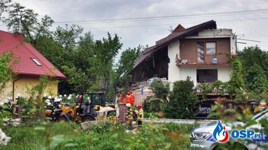 Eksplozja gazu w Chodlu. Dwie osoby zginęły pod gruzami domu. OSP Ochotnicza Straż Pożarna
