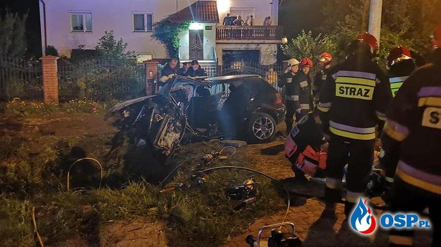 4 osoby zginęły w wypadku w Miłkowie OSP Ochotnicza Straż Pożarna