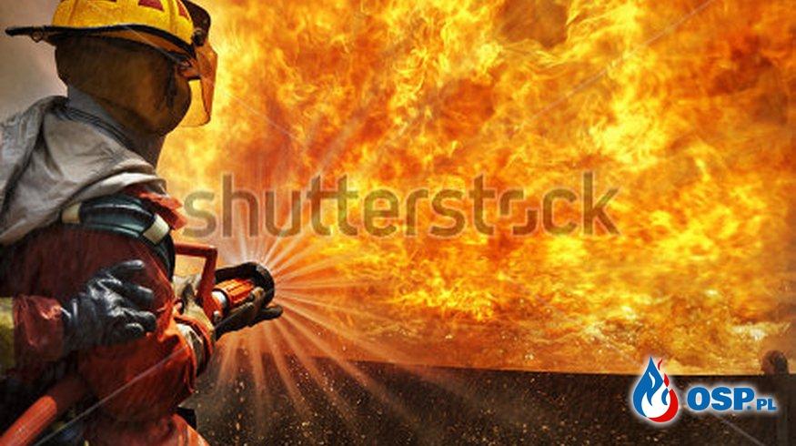 Pożar pustostanu  23.11.2016 OSP Ochotnicza Straż Pożarna