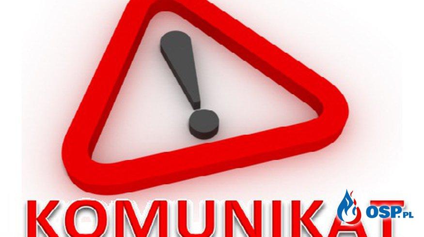 Ostrzeżenie IMGW  OSP Ochotnicza Straż Pożarna
