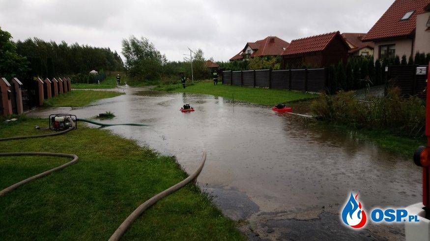 Skutki długotrwałych opadów deszczu! OSP Ochotnicza Straż Pożarna
