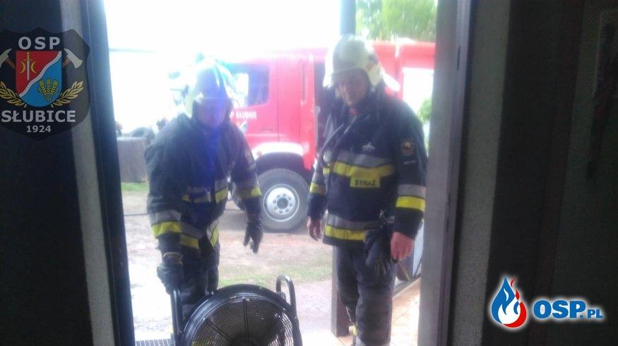 W kotłowni budynku mieszkalnego wybuchł pożar OSP Ochotnicza Straż Pożarna