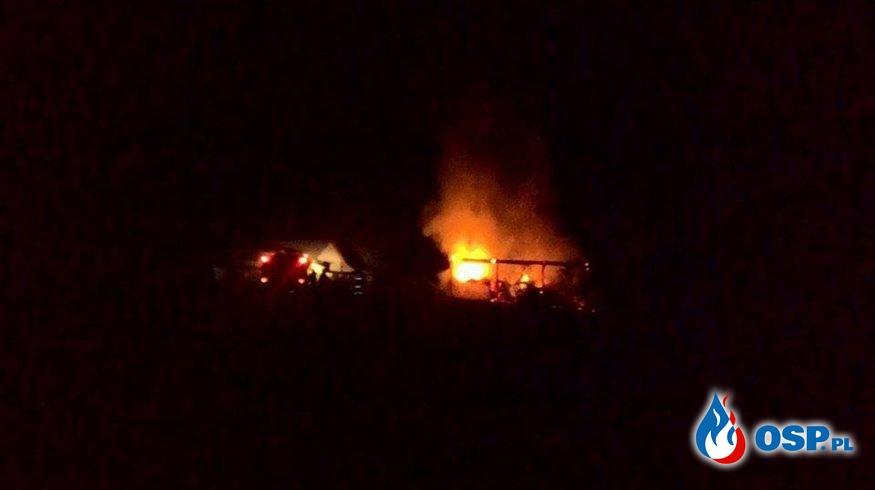 To już trzeci pożar stodoły w Milejczycach! OSP Ochotnicza Straż Pożarna