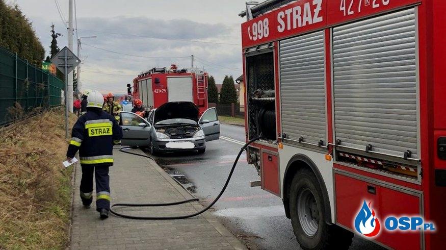 Pożar samochodu - ul. Krakowska w Babicach OSP Ochotnicza Straż Pożarna