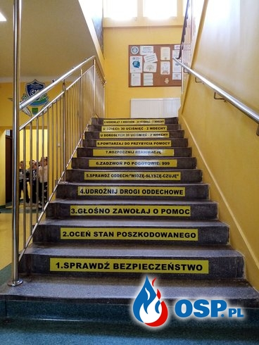 Akcja prewencyjna w szkole podstawowej w Mroczkowie -  RKO! OSP Ochotnicza Straż Pożarna