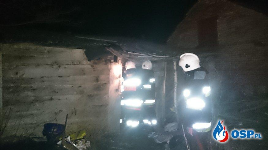 Pożar budynku gosp. OSP Ochotnicza Straż Pożarna