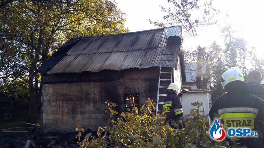 Pożar budynku  gospodarczego w miejscowości Zahutyń OSP Ochotnicza Straż Pożarna