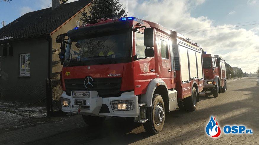 Zadymienie w mieszkaniu w Glinojecku OSP Ochotnicza Straż Pożarna