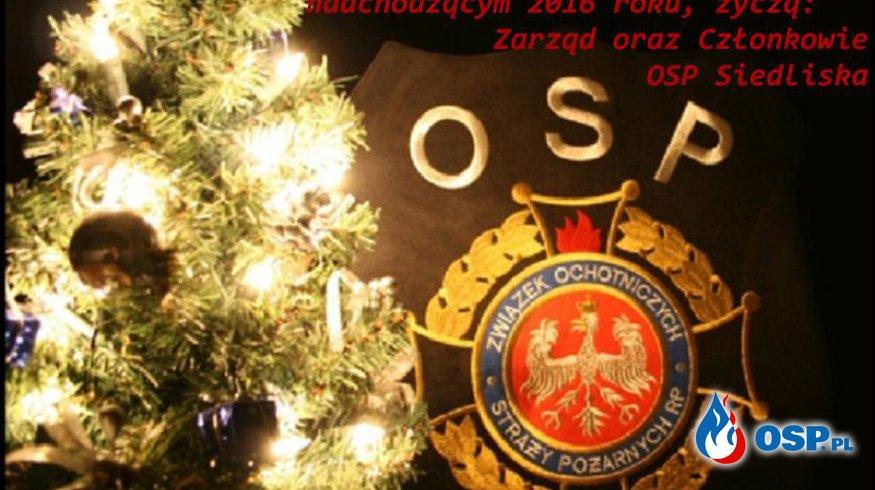 Życzenia z okazji Świąt Bożego Narodzenia oraz Nowego Roku OSP Ochotnicza Straż Pożarna