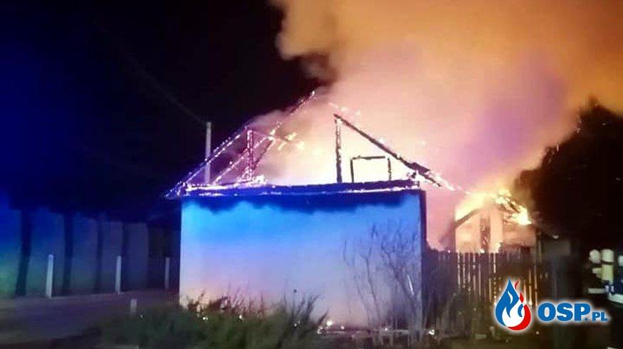 Pożar stodoły - ul. Jagodowa w Kwaczale OSP Ochotnicza Straż Pożarna