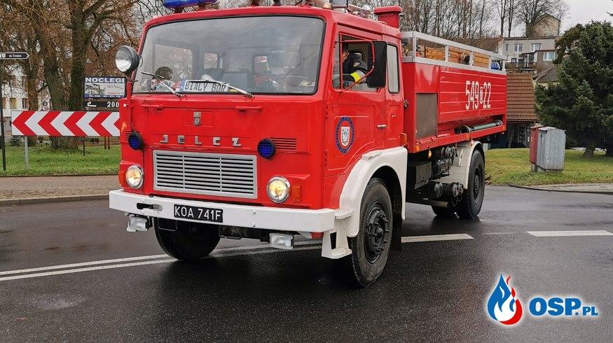 Biały Bór. ul. Dworcowa DK25 Plama Oleju OSP Ochotnicza Straż Pożarna