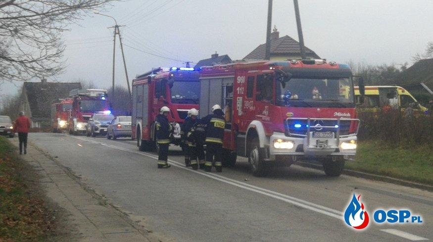 Pożar mieszkania i pożar sadzy w przewodzie kominowym OSP Ochotnicza Straż Pożarna