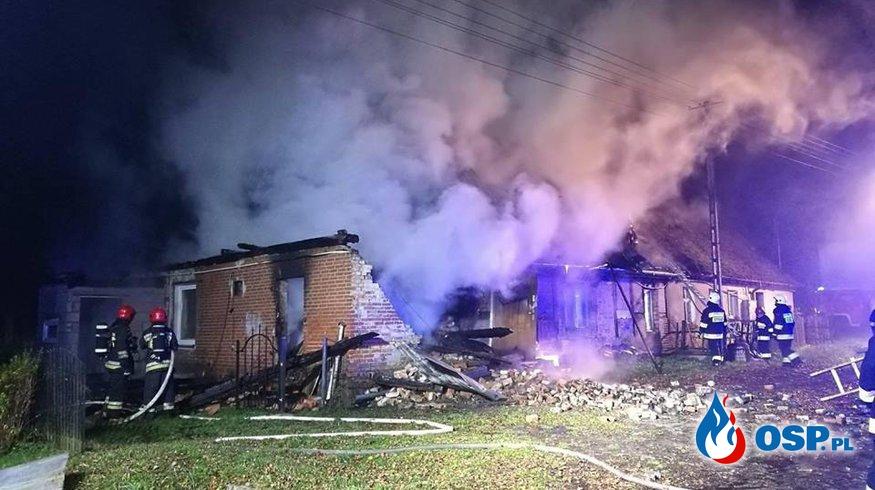 Pożar domu w Podgórach - zbiórka dla pogorzelców OSP Ochotnicza Straż Pożarna