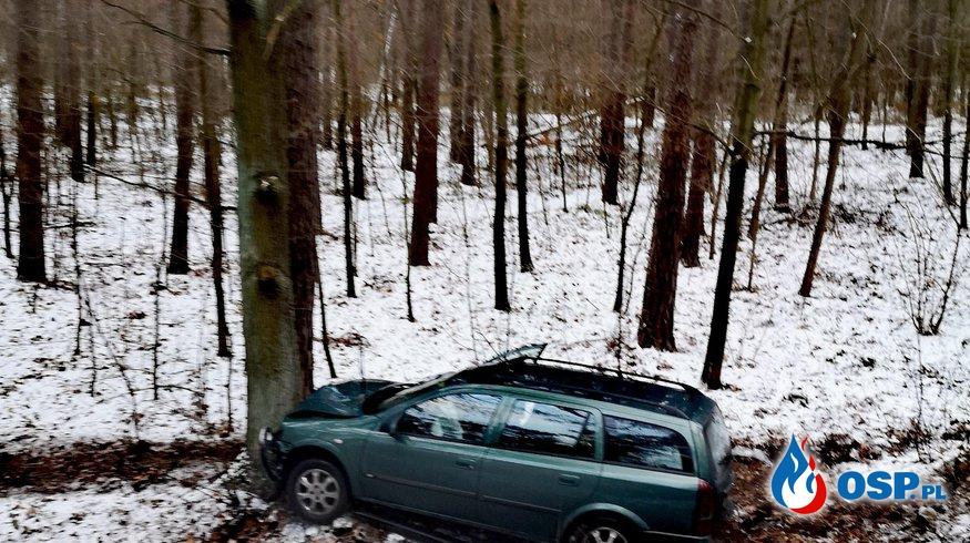 Wypadek na DW 137 droga zablokowana OSP Ochotnicza Straż Pożarna