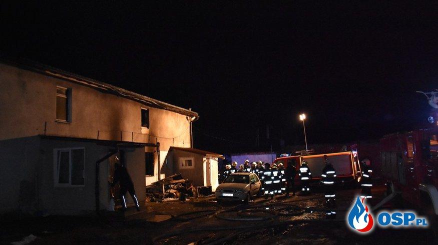 Tragiczny pożar budynku wielorodzinnego w Samborowie (Zabłocie) OSP Ochotnicza Straż Pożarna