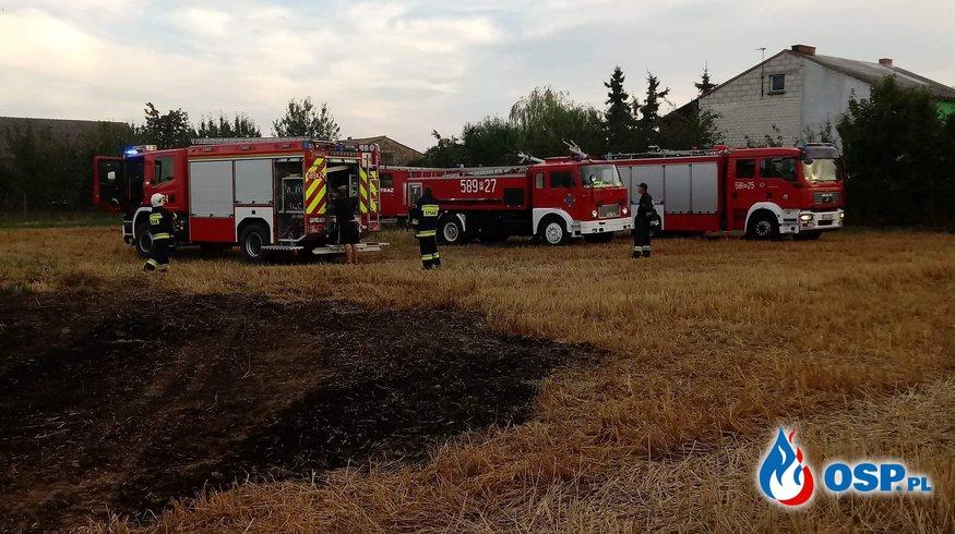 Pożar ścierniska i słomy w Podbielsku OSP Ochotnicza Straż Pożarna