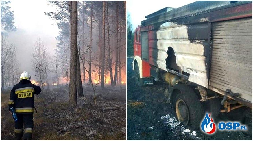 Wóz strażaków spłonął podczas gaszenia lasu. Ruszyła zbiórka na nowy. OSP Ochotnicza Straż Pożarna