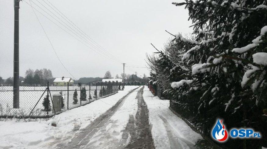 Zerwana linia energetyczna OSP Ochotnicza Straż Pożarna