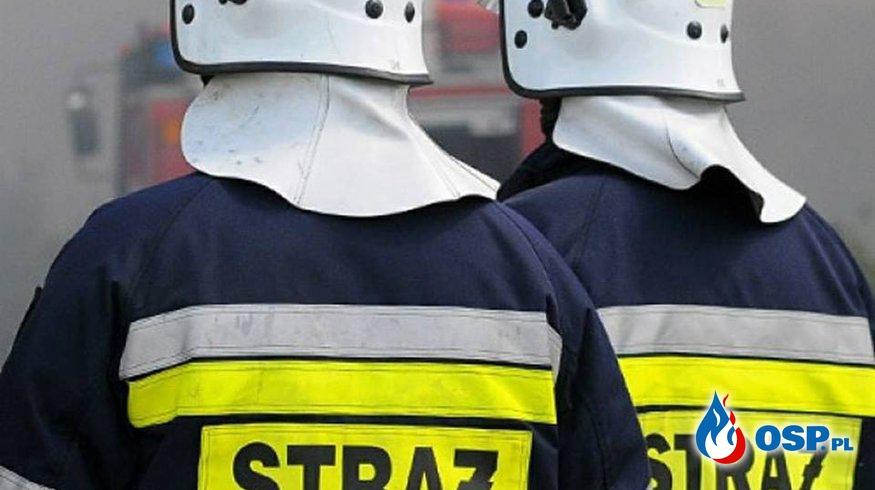 Pożar butli z gazem w zakładzie gastronomicznym [Zdarzenie 67/2017] OSP Ochotnicza Straż Pożarna
