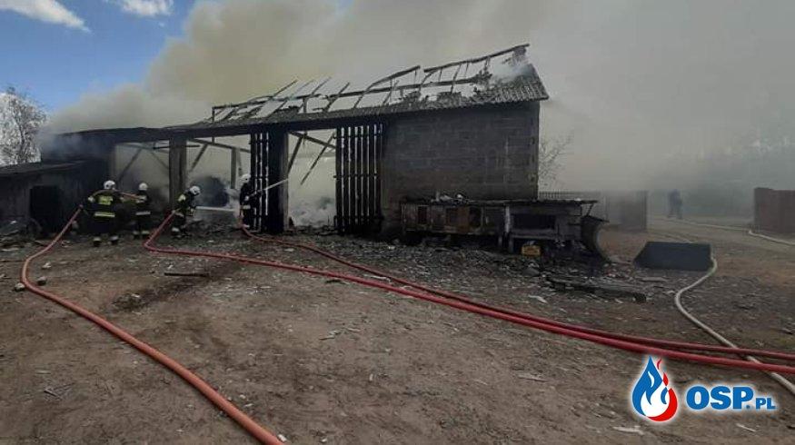 Pożar budynku gospodarczego w miejscowości Krępica OSP Ochotnicza Straż Pożarna