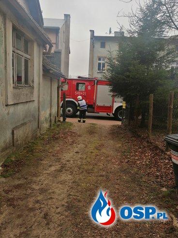 Biały Bór Zadymienie Na Poddaszu OSP Ochotnicza Straż Pożarna
