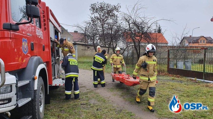 Szkolenie wodno-lodowe w gminie Trzebiatów OSP Ochotnicza Straż Pożarna