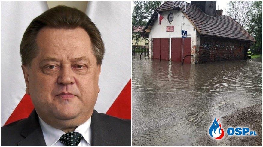 """Zieliński: """"Wydałem dyspozycje KG PSP"""". Rzecznik PSP: """"Nic do nas nie dotarło"""". OSP Ochotnicza Straż Pożarna"""