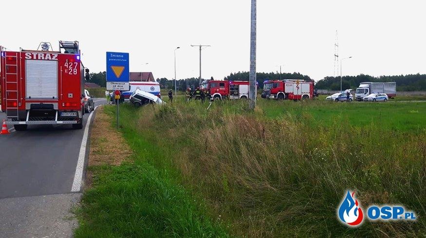 Wypadek drogowy - Obwodnica Babic OSP Ochotnicza Straż Pożarna