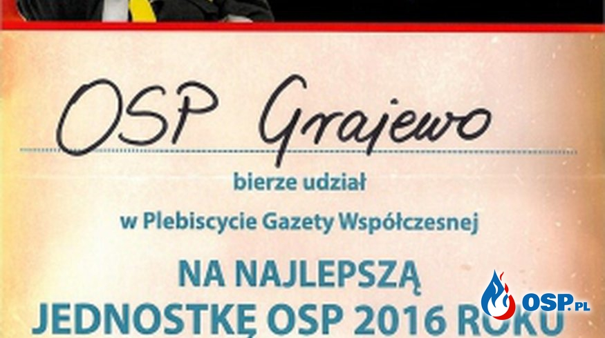"Konkurs ""Jednostka OSP 2016 roku"" OSP Ochotnicza Straż Pożarna"