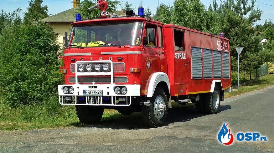 Usunięcie powalonego konaru drzewa OSP Ochotnicza Straż Pożarna