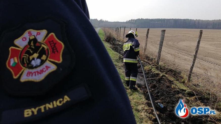 Pożar traw - Węgrzynice 12.04.2018 OSP Ochotnicza Straż Pożarna