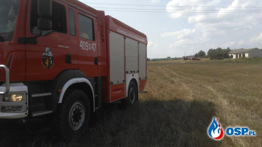 Pożar rżyska OSP Ochotnicza Straż Pożarna