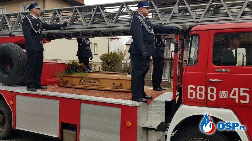 Pogrzeb śp. druha Grzegorza Skoczeń, Prezesa Ochotniczej Straży Pożarnej w Wołominie OSP Ochotnicza Straż Pożarna