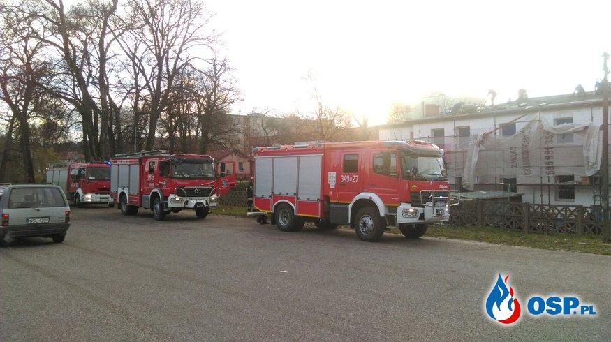 Pożar poddasza 20-11-2017 OSP Ochotnicza Straż Pożarna