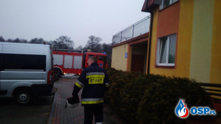 #02/2018 Załączenie się czujki ppoż w Domu Pomocy Społecznej w Czarnem. OSP Ochotnicza Straż Pożarna