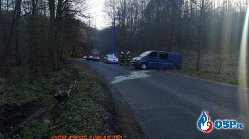Wypadek drogowy OSP Ochotnicza Straż Pożarna