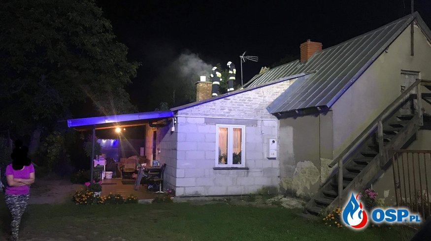 Pożar sadz w przewodzie kominowym OSP Ochotnicza Straż Pożarna