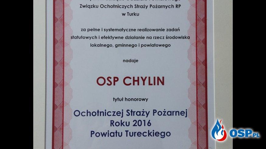 OSP Chylin - Ochotnicza Straż Pożarna roku 2016 Powiatu Tureckiego OSP Ochotnicza Straż Pożarna