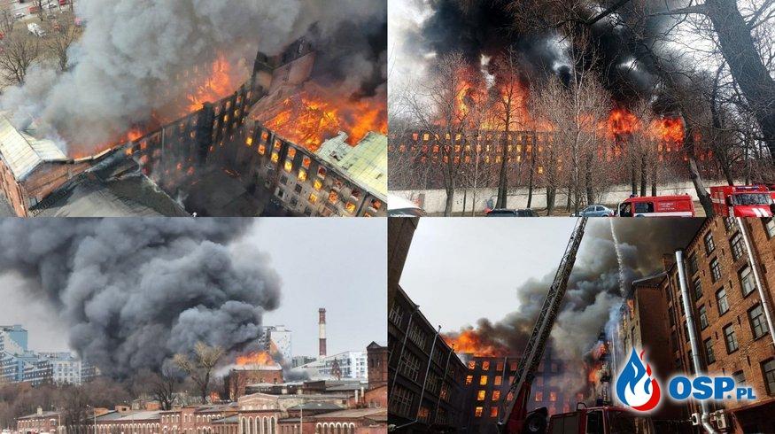 """Ogromny pożar XIX-wiecznego budynku. """"Zginęło dwóch strażaków"""". OSP Ochotnicza Straż Pożarna"""