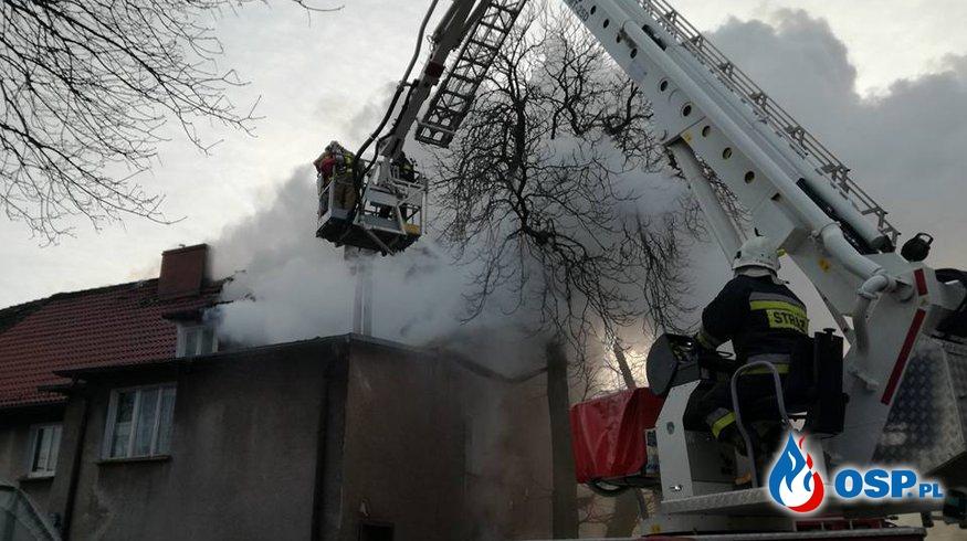 Pożar kamienicy w Czaplinku OSP Ochotnicza Straż Pożarna